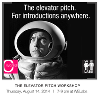 WE Workshops: Elevator Pitch Workshop