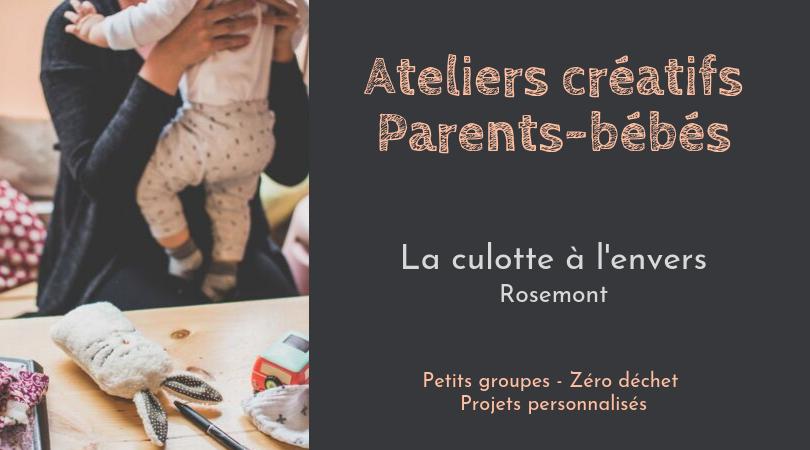Atelier créatif parents-bébés - La Culotte à l'Envers