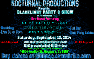 Nocturnal Productions Presents: BlackLight Party & Show