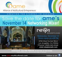 AME's Networking Mixer and Coaching on the GO !