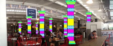 Yarn Bombing LA Workshops at Grand Central Market