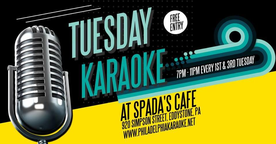 Tuesday Karaoke at Spada's Cafe (Eddystone | Delaware County, PA)
