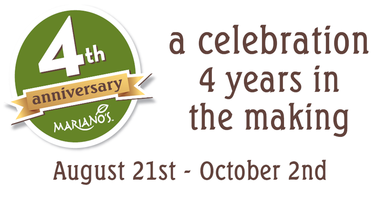 Mariano's Four Year Anniversary Celebration