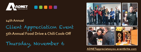 14th Annual Client Appreciation Event, 5th Annual Food...