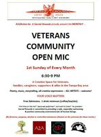 Monthly VETERANS & Community OPEN MIC