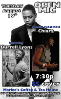 Open Mic Special Guest Host Chiara feat. Durrell Lyons
