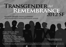 SF Transgender Day of Remembrance (TDOR)