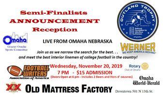 Outland Trophy Semi-Finalists Announcement Reception