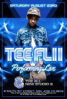 TeeFlii Live Guestlist Closes @ 9:30