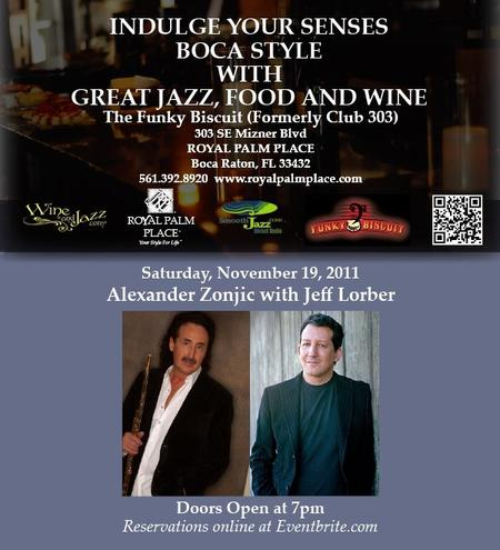 Royal Palm Place Jazz-Alexander Zonjic & Jeff Lorber@The...