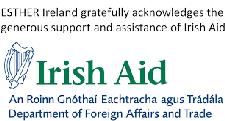 Irish Aid, Supported by Irish Global Health Network logo