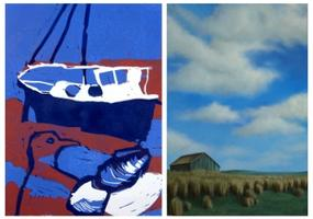 Depictions of Land and Sea by Carol Miller and Jackie...