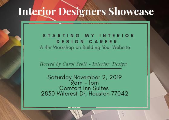 Interior Designers Showcase Workshop Series Tickets Sat