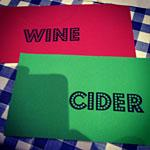 Cider vs wine & food matching dinner