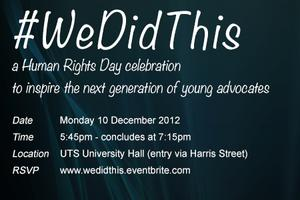 #WeDidThis - a very special Human Rights Day...