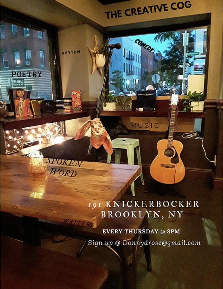 OPEN MIC NIGHT Thursday 8pm (Email Donnydrose@gmail to reserve time slot)