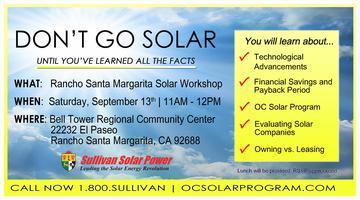 Rancho Santa Margarita Solar Seminar