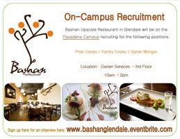 On-Campus Recruitment:  Bashan Restaurant