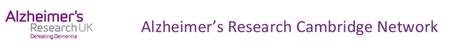 Alzheimer's Research UK - Public Meeting, Cambridge