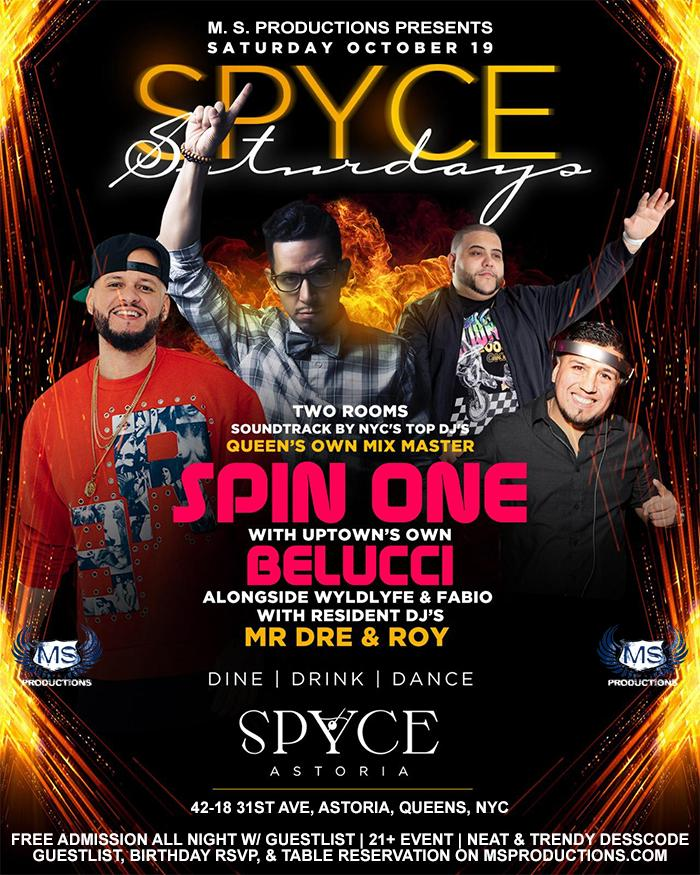 FREE Saturday party at Spyce Astoria Queens
