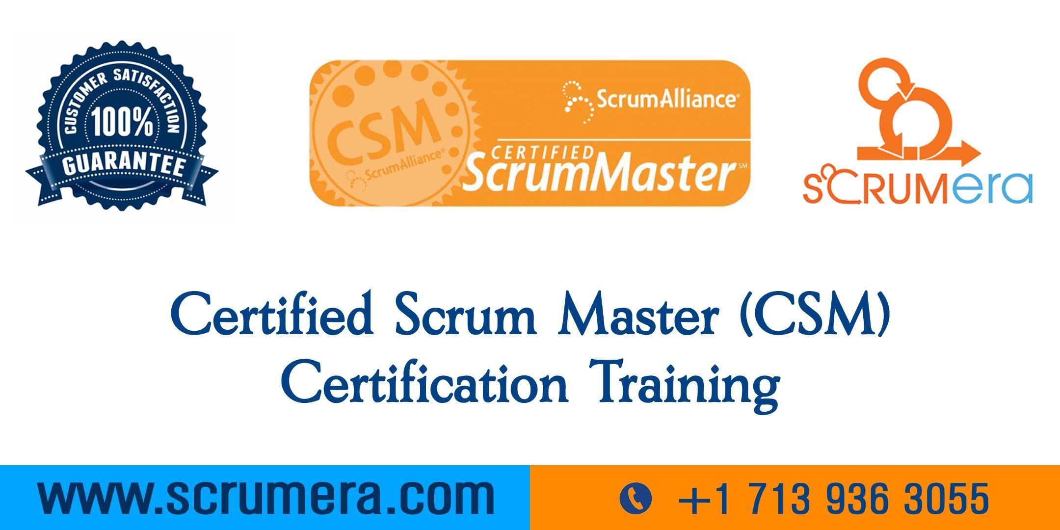 Scrum Master Certification | CSM Training | CSM Certification Workshop | Certified Scrum Master (CSM) Training in Pasadena, TX | ScrumERA