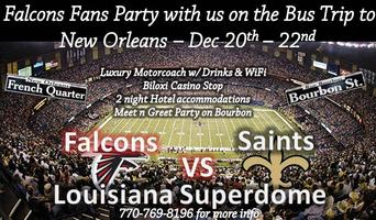 Falcons - Saints Bus Trip 2014 in New Orleans w/...