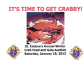 THE DANVILLE KNIGHTS OF COLUMBUS ANNUAL WINTER CRAB...