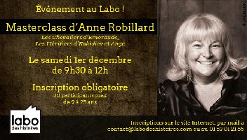 Master class Anne Robillard, l'auteur des Chevaliers...