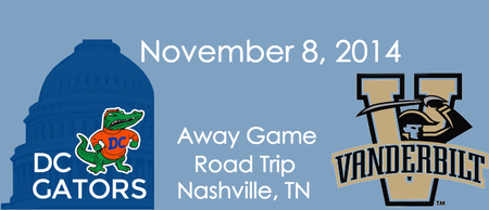 DC Gator Club Away Game Road Trip - UF vs. Vandy -...