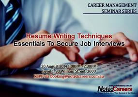 Resume Writing Techniques - Essentials to Secure Job...