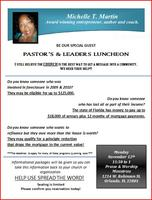 Pastor's & Leader's Luncheon