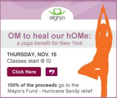 OM to heal our home: a yoga benefit for New York