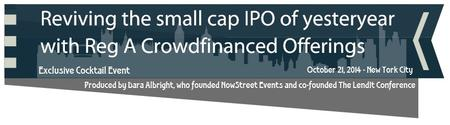 Exclusive Cocktail Event: Reviving the small cap IPO...