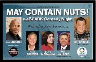 MAY CONTAIN NUTS!  weSPARK Comedy Night