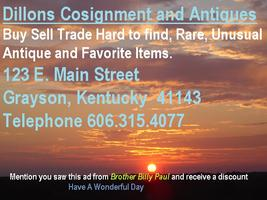 Dillons Cosignment and Antiques Show, Buy Sell Trade