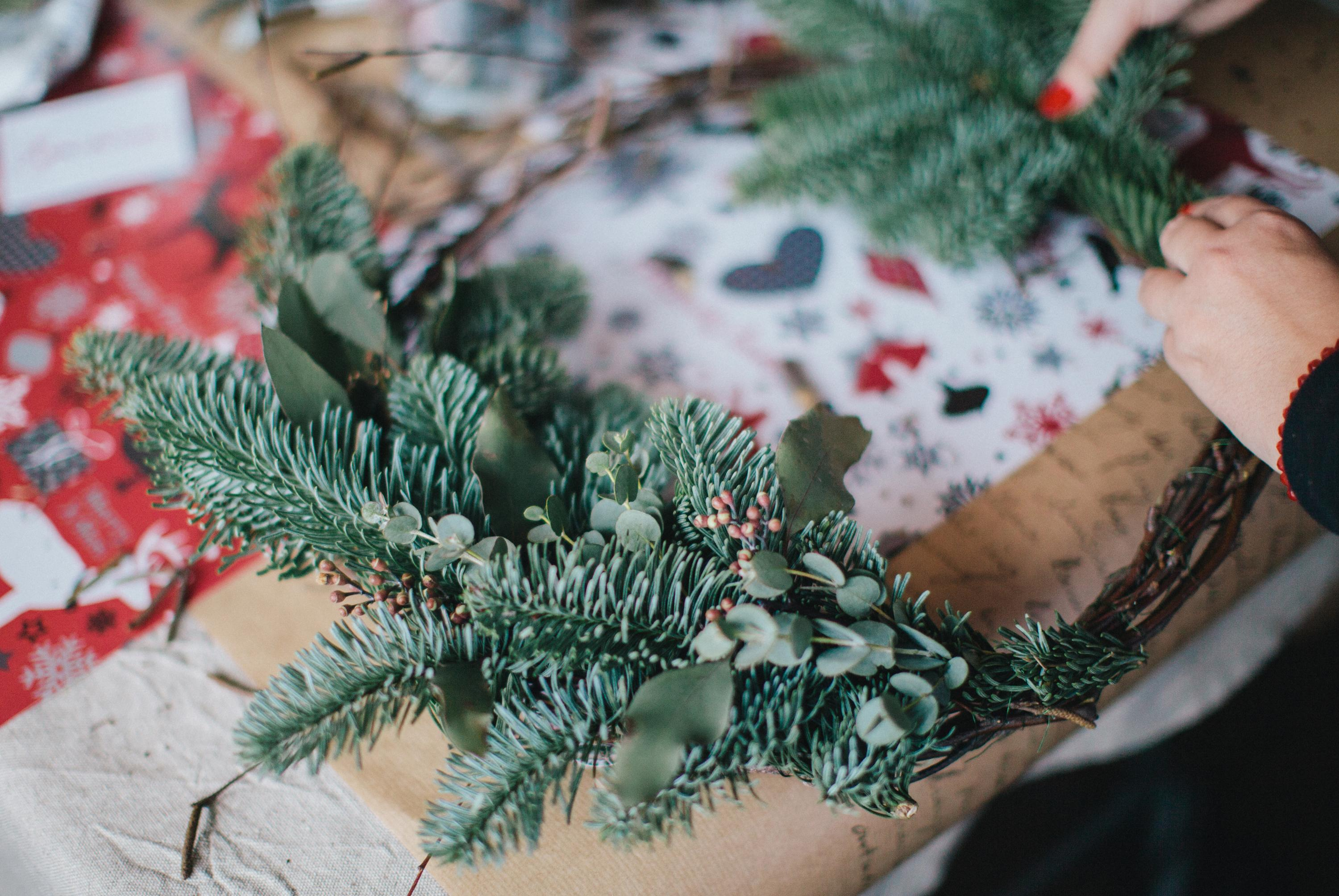 Holiday Evergreen Wreath Workshop: December