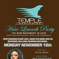 Temple Hair Launch Event