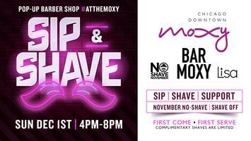 Sip & Shave #atthemoxy