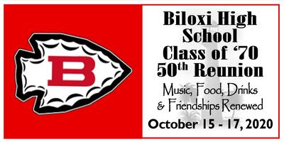 Biloxi High School Class Of 70 50th Class Reunion Tickets Sat