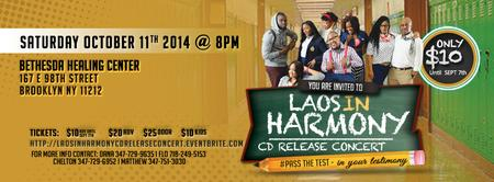 Laos In Harmony CD release concert