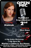 Poetry Workshop + Open Mic Hostess Miss Haze feat....