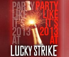 Party Like It's 2013 at Lucky Strike Miami NYE Party