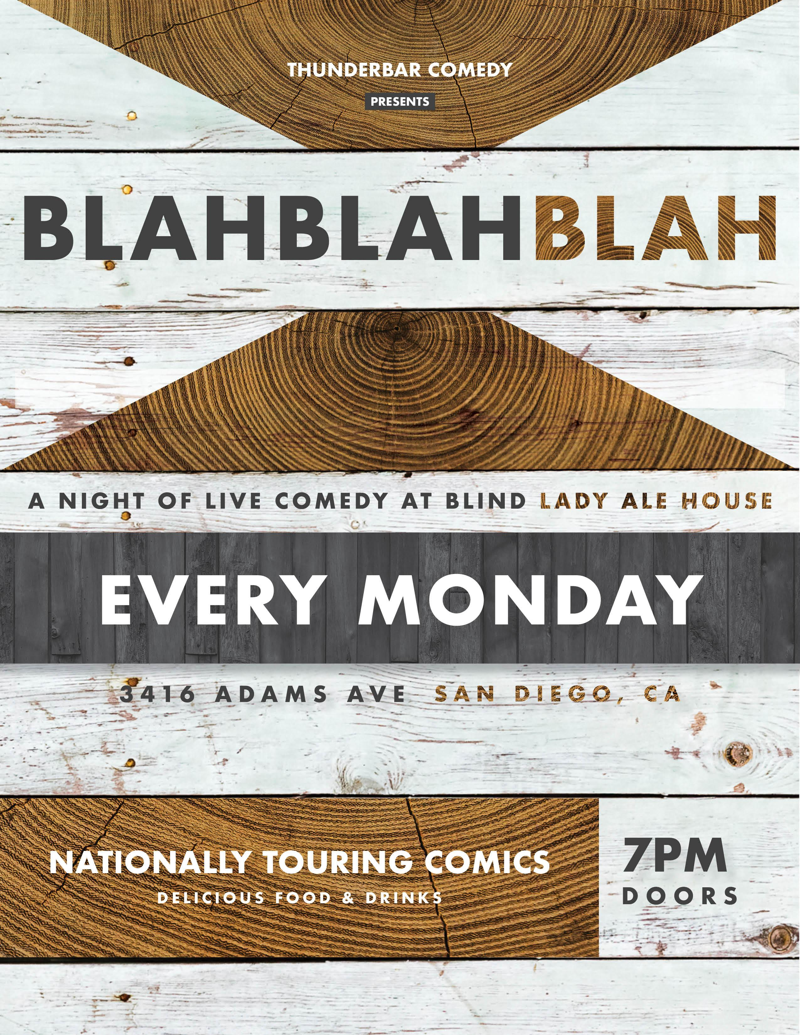 BLAH BLAH BLAH: A Night of Live Comedy at Blind Lady Ale House
