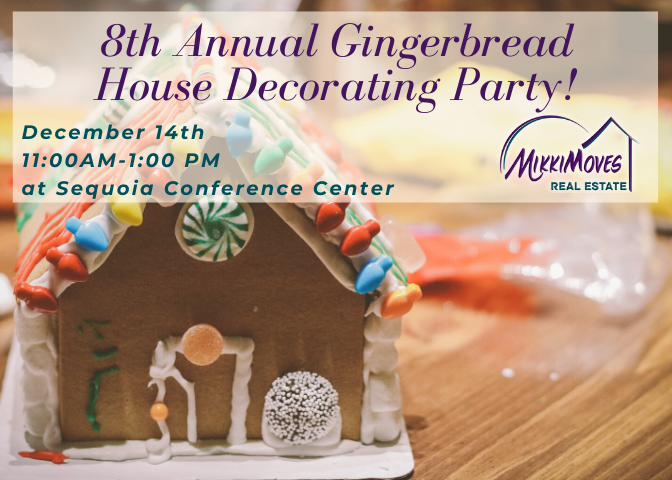 MikkiMoves Eureka's 8th Annual Gingerbread House Decorating Party