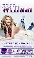 THE RETURN OF WILLAM AT LIQUID TAMPA ON SEPT. 27TH