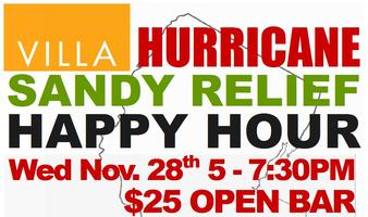 Hurricane Sandy Relief Happy Hour- 100% of proceeds go to...