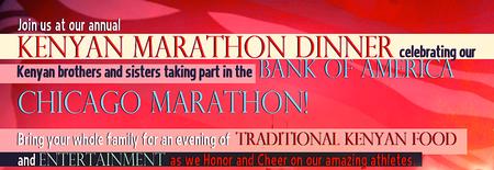 2014 Kenya Marathon Dinner Celebrating Our Elite...