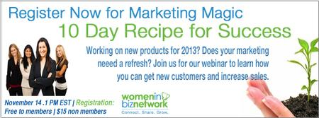 Webinar: Marketing Magic: 10 Day Recipe for Success...