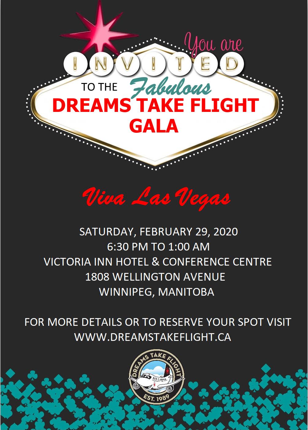 Viva Las Vegas! - A Fundraising Gala for Dreams Take Flight Winnipeg