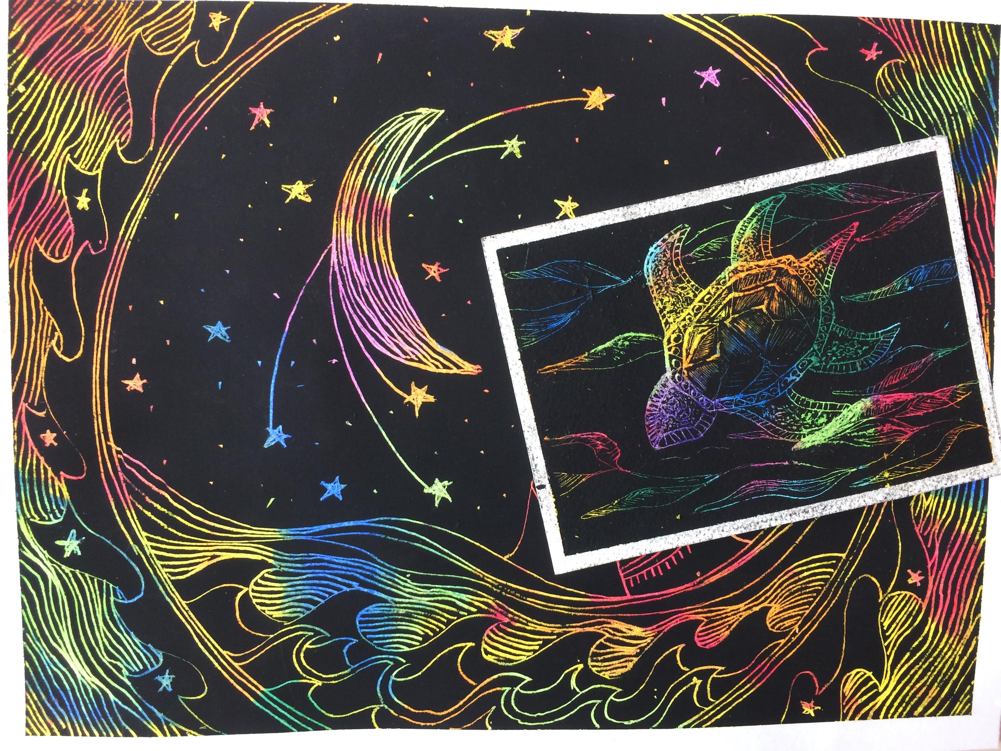 Scratch Art Designs and Cards